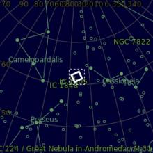 astrofotografia Cometa Jacques C2014 E2 e NGC 896