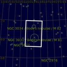 M81 e M82 Le Galassie di Bode HaRGB CMOS Mappa