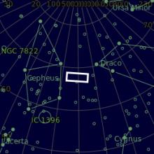 Panorama Iris Nebula & LBN 468 mappa